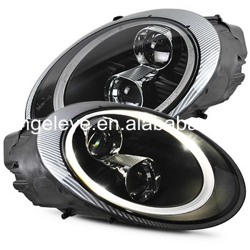 For Porsche 997 2006-2010 year Head Lamp Black housing for original car with HID kit SN
