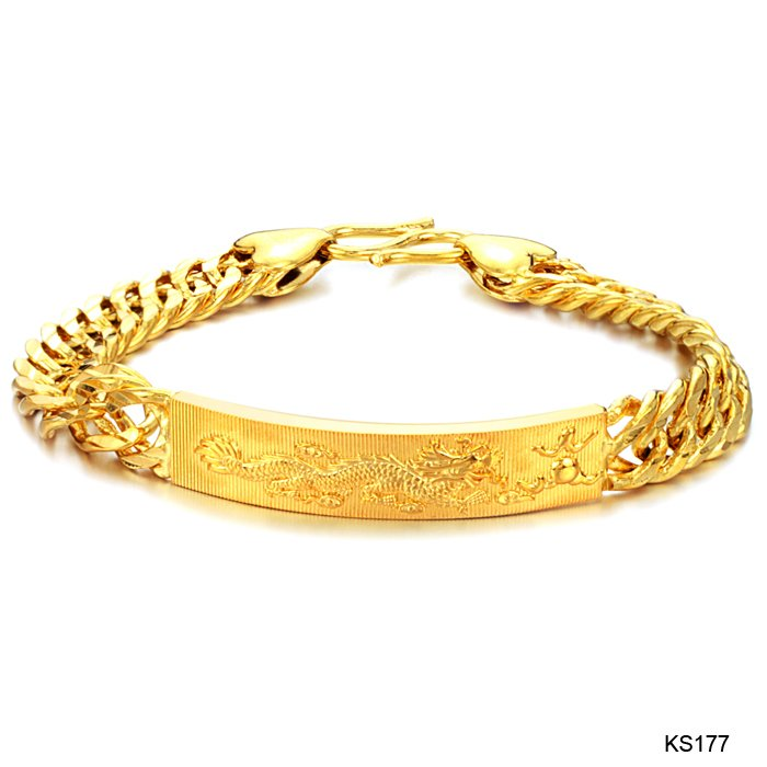 TENGYI New Arrival Gold Color Dragon ID bracelets for men never fade