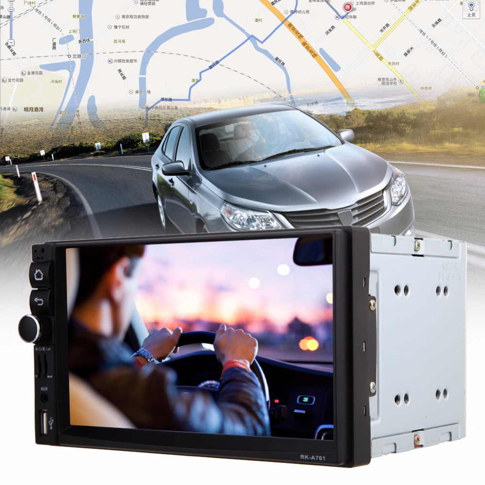 7 2Din Touch Screen Car Multimedia Audio Stereo MP5 Player Autoradio Android GPS Navigator Bluetooth FM Transmitter Car-charger