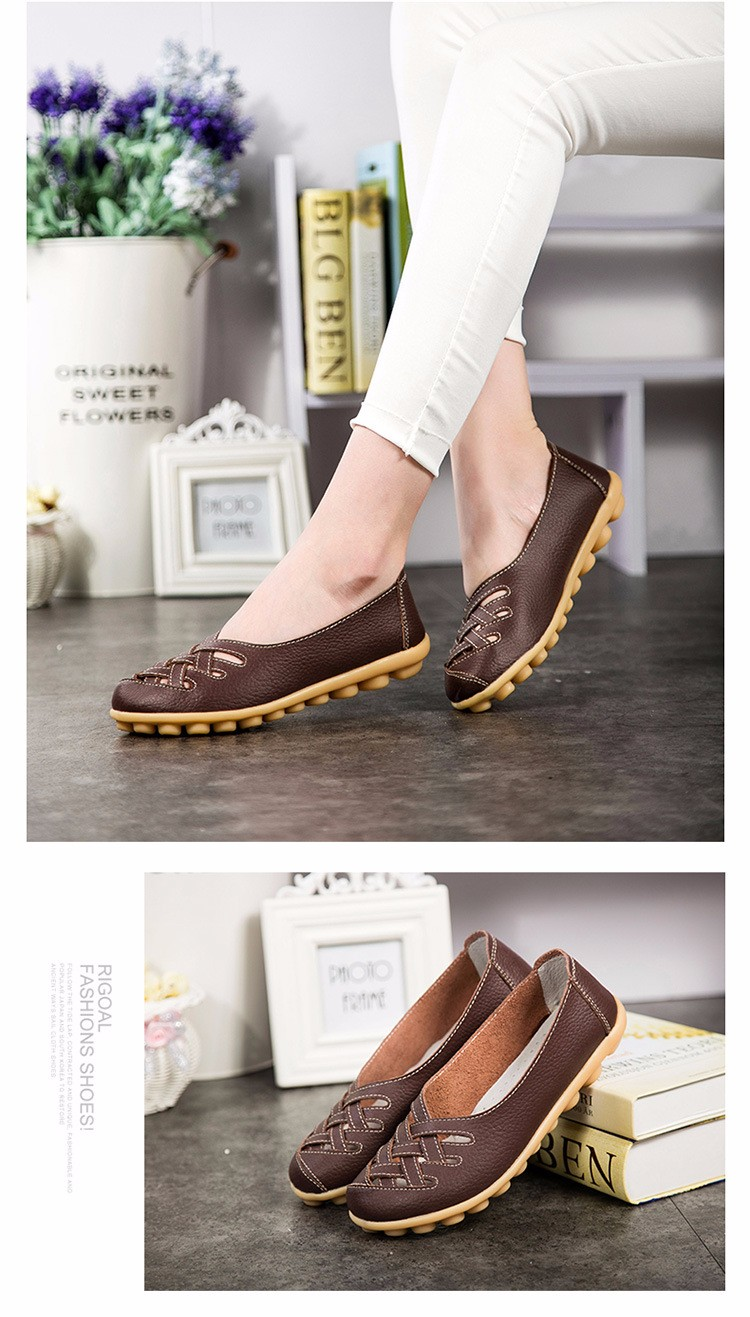 Hot Sale 2016 Spring New PU Leather Woman Flats Moccasins Comfortable Woman Shoes Cut-outs Leisure Flat Woman Casual Shoes ST181 (38)