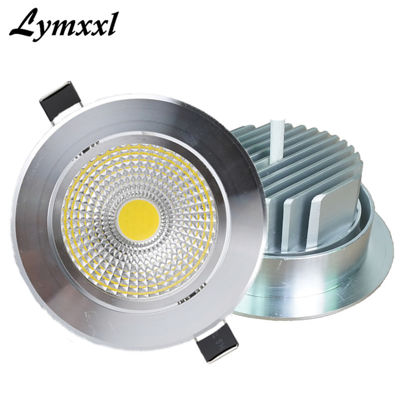 Earnest Silver Shell Led Cob Downlights Dimmable 10w 12w Cree Cob Cri85 Ac110v 220v Or12v Led Recessed Lights Lamp Indoor Cabinet Lamp Ceiling Lights & Fans