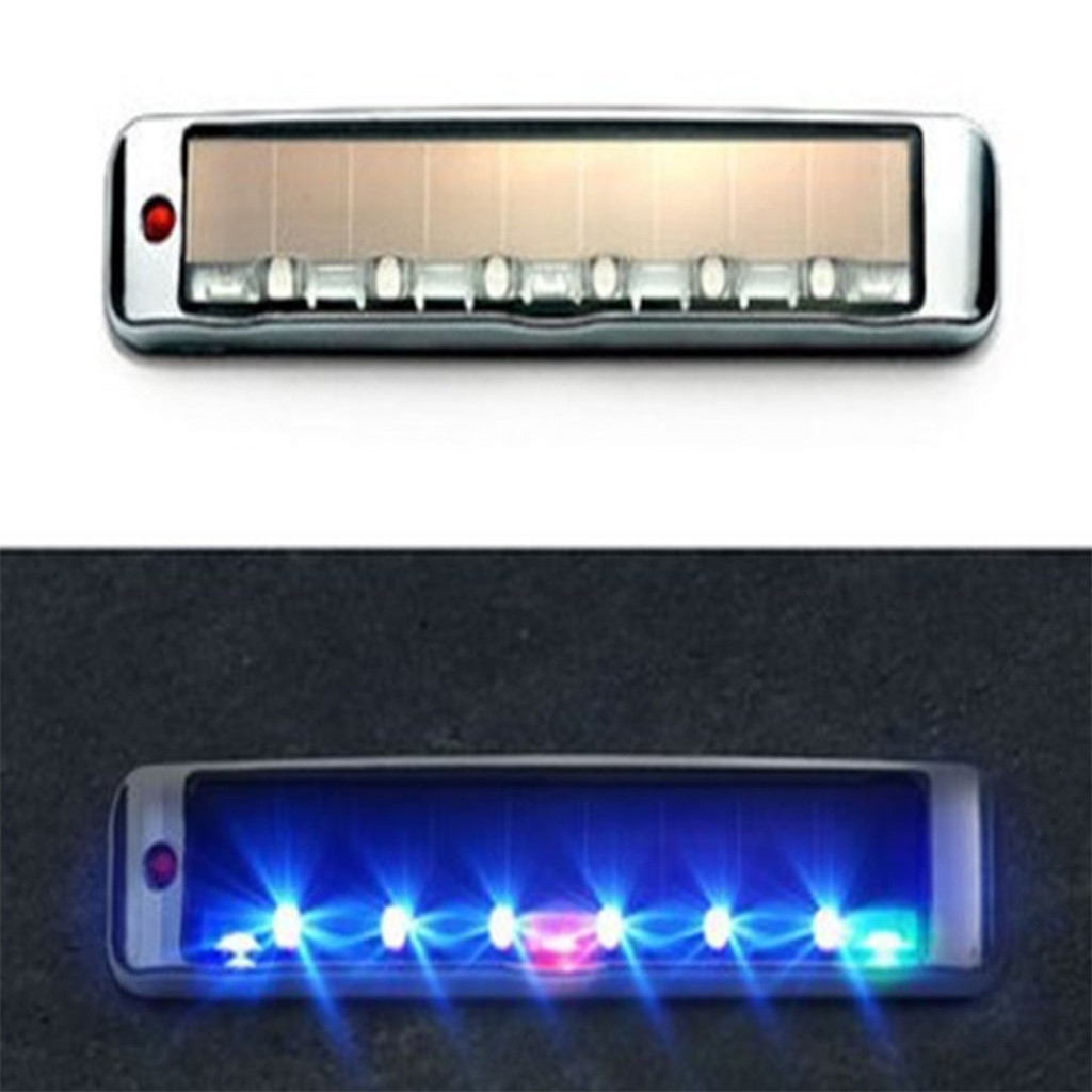 Image 5 - Car Accessories Solar Anti Static Sollision Light LED Multi Function Warning Light Luces Led Para Auto Car Accessories-in Signal Lamp from Automobiles & Motorcycles
