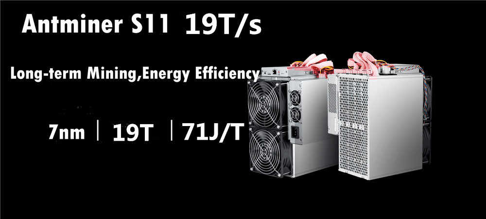 Newest AntMiner S11 19T With PSU Bitcoin BTC BCH Miner Better Than S9 S9i  S9j T15 Z9 WhatsMiner M3 M3X M10
