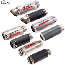 laser mark motorcycle modified muffler SC carbon fiber exhaust pipe For Ducati MONSTER 400 620 695 696 796 821 1100 1200