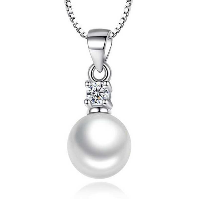 Omhxzj Grosir Fashion Wanita Hadiah Empat Cakar Zircon ABS Shell Pearl 925 Sterling Silver Liontin PE122 Tidak Ada Rantai Kalung