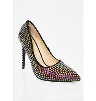 THEMOST Для женщин насосы хрустальные свадебные туфли острый носок и высокий каблук туфли Золушки горный хрусталь каблуки женская обувь вечер