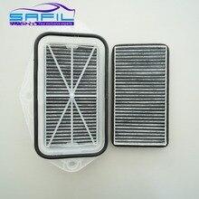 Угольный фильтр для салона с 3 отверстиями для Vw Sagitar CC Passat Magotan Golf Touran Audi Skoda Octavia внешний воздушный фильтр# ST100