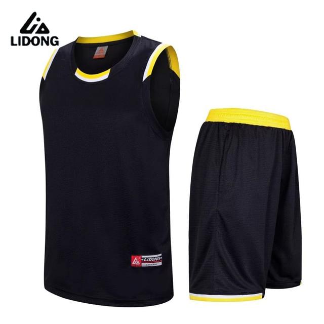 2017 New Men Cheap Basketball Jerseys Sets High Quality Blank Sports Running Clothing Adult Short Shirts Uniforms Suits