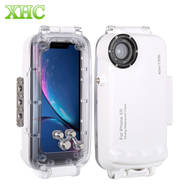 HAWEEL for iPhone X XS XR XS Max 40m 130ft Waterproof Diving Housing Photo Video Taking