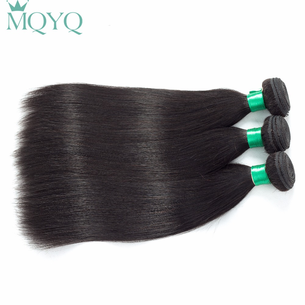 Brazilian Straight Hair Bundles Natural Color 100% Human Hair Extensions 8-28inch Non Remy Hair Weaving 3 Pieces