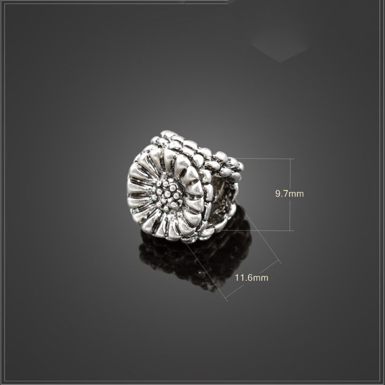 2016 New Silver Beads Charms Classic Big Hol Chrysanthemum Diy Beads for Women Pandora Bracelets & Necklace YBD048