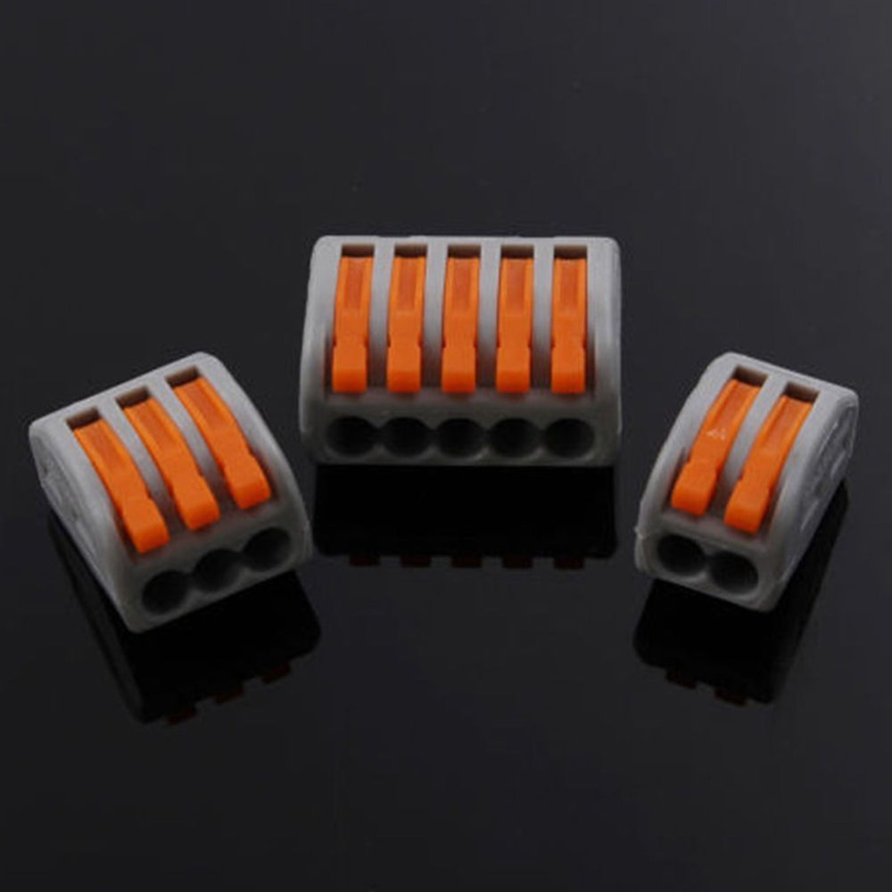 30pcs 2P+ 20pcs 3p+ 10pcs 5p Universal Compact Wire Wiring Connector Conductor Terminal Block With Lever AWG 28-12 20pcs 2sk3878 to 3p