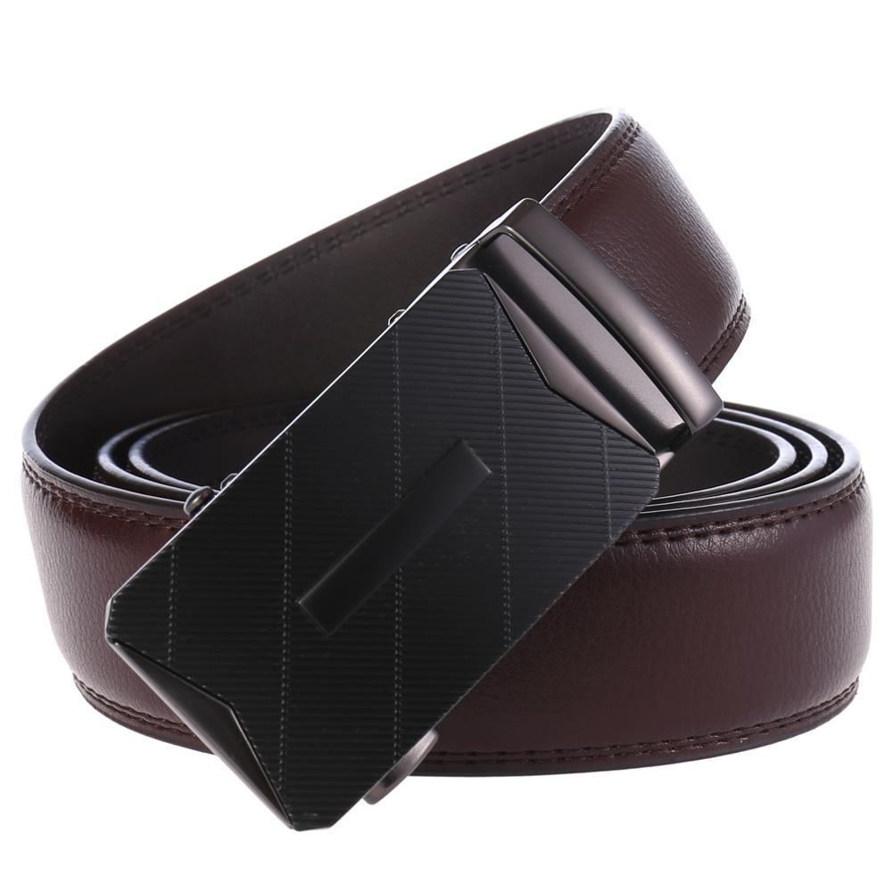 High Quality Automatic Buckle Belts For Man Coffee Leather Designer Man Black Belt Fashion Popular Luxury Belts Male in Men 39 s Belts from Apparel Accessories