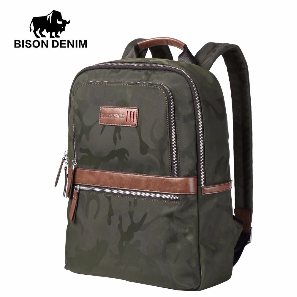 BISON DENIM 2017 New Vintage Backpack Large Capacity Men Male Luggage Bag Canvas Travel Bags Top quality Travel School Bag N2644 vintage backpack large capacity men male luggage bag school travel duffle bags large high quality escolares new fashion