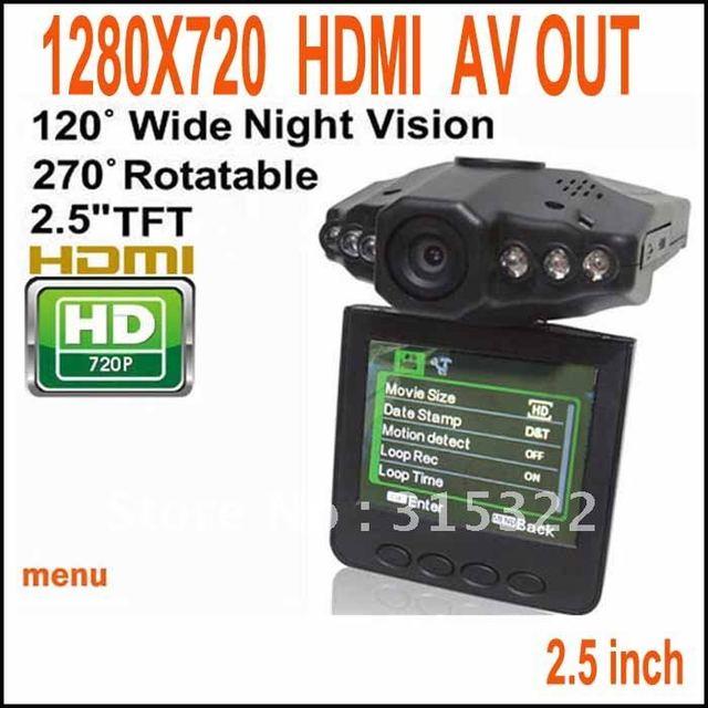 HD 1280*720 Car camera vehicle recorder free shipping +dropship