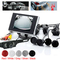 Waterproof 135 Degrees View Angle Car Parking Kits: 4 Sensors + Wired Camera + 3.5 Inch LCD Rearview Car Monitor