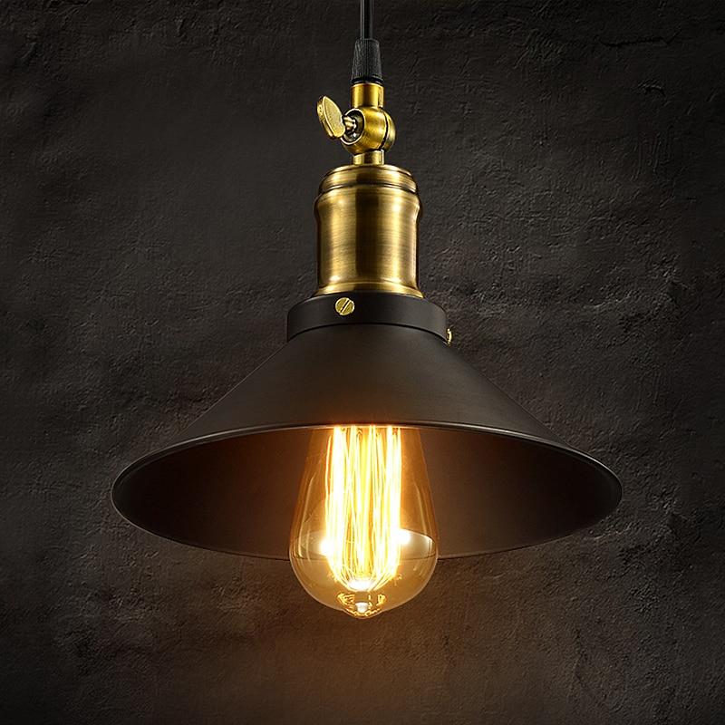 ФОТО loft american vintage pendant lights antique industrial kitchen lighting aisle lights for restauran bar copper lamp holder E27