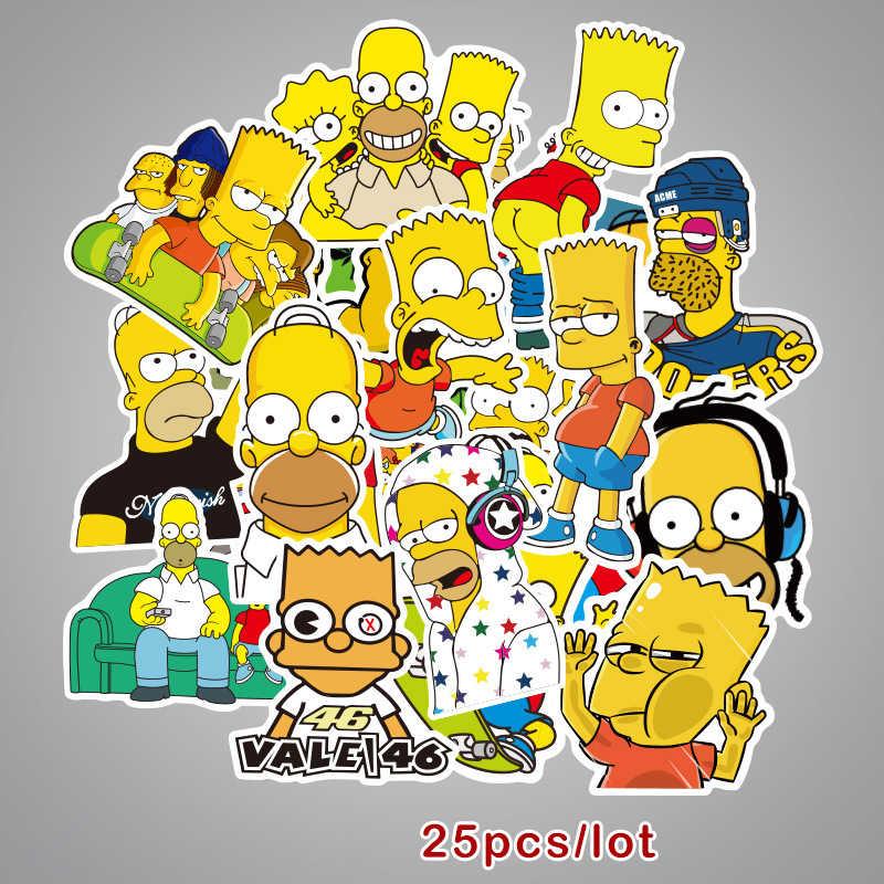 7ade396dc77a6 25PCS Cartoon Anime Vinyl Stickers Simpsons Street Tide Graffiti Sticker  Decals Scrapbook Album Card Laptop Luggage Skateboard