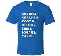 Los Angeles Baseball Team Players 2017 World Series Kike Puig Cody Justin T Shir
