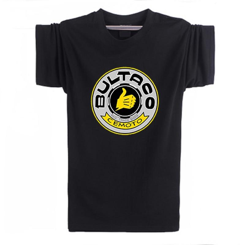2017 nieuwe Bultaco Pursang T-shirt T-shirt Mannen katoen korte mouw Gedrukt T-shirt modemerk t-shirt Plus Size