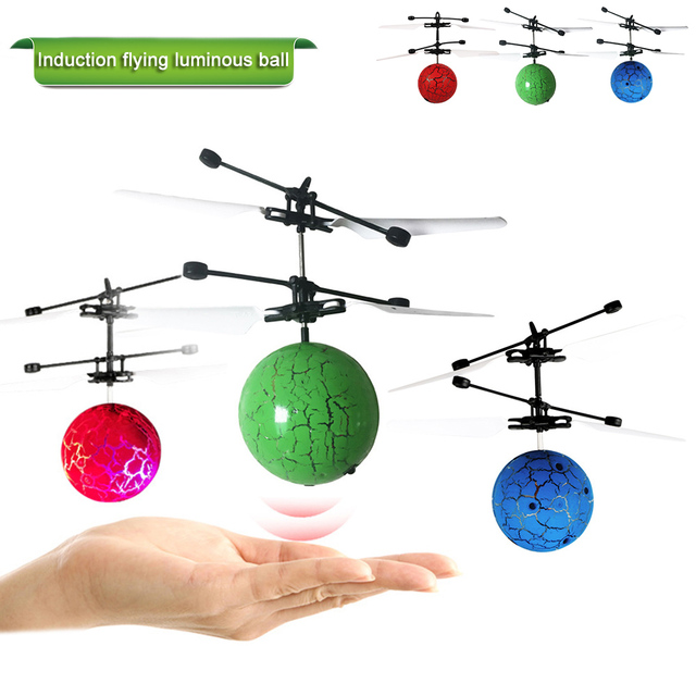 Luminous Toy Flying RC Ball fly balls LED Light Aircraft Helicopter Induction LED Light Toys best gift drone Drop shipping