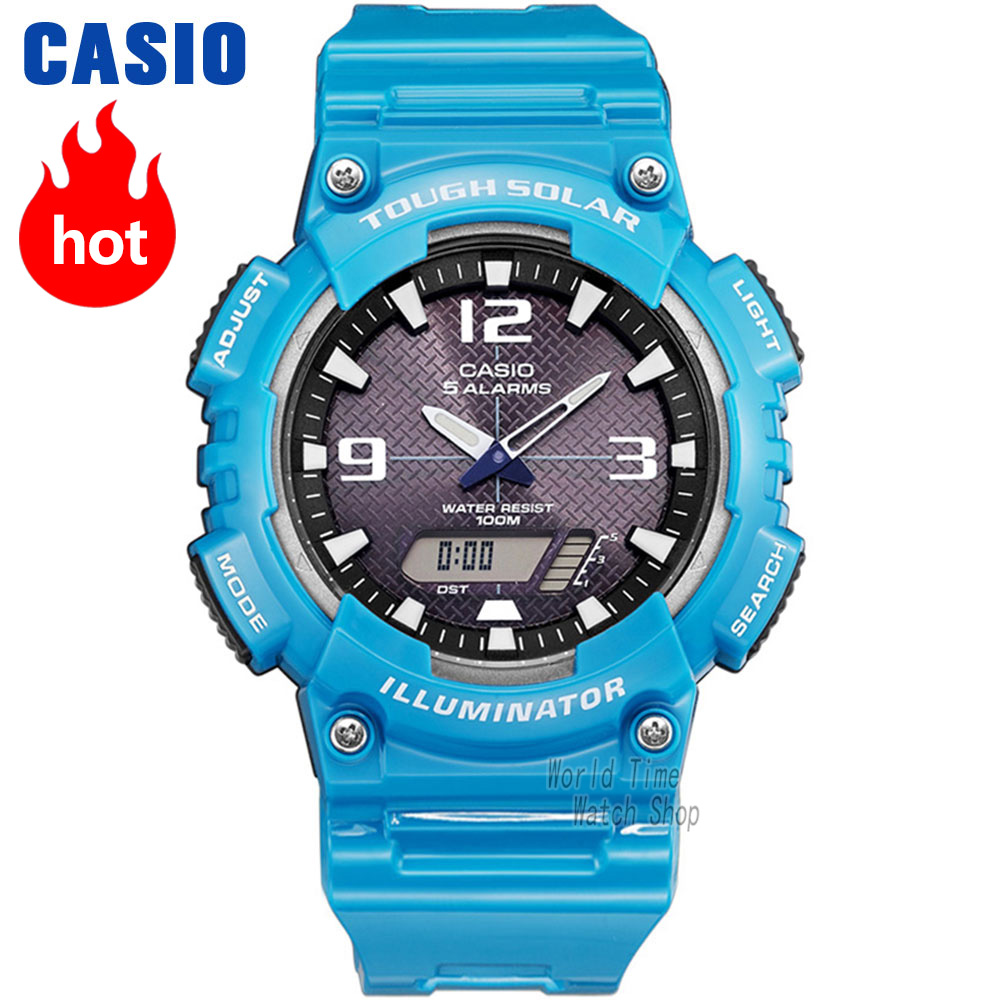 Casio watch Analogue Men's Quartz Sports Watch Dynamic Design Waterproof Student Watch AQ-S810 clearaudio professional analogue toolkit