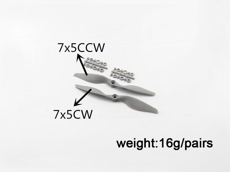 2pcs APC 7 * 5 elice + 2 buc APC 7 * 5 elice inversoare, APC 8 * 6 CW - Jucării cu telecomandă