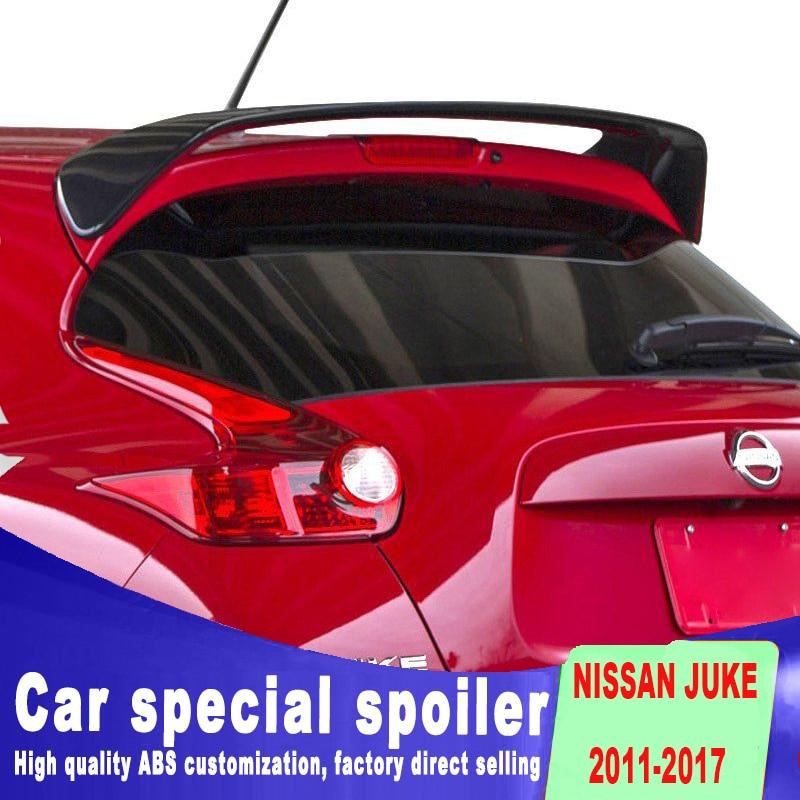 New design big spoiler High Quality Rear window roof Wing Primer Color Rear juke Spoiler For Nissan Juke Spoiler 2010 2015