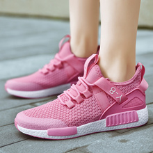 Rommedal couple shoes solid black white pink color lightweight NMD women men sneakers breathable sport trainers casual