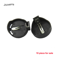 10 pcs/lot Black Round CR2025 CR2032 Button Coin Cell Battery Socket Holder Case