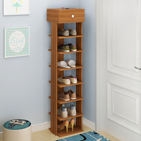 Wooden Shoe Rack Easy Assembly Storage Shoes Cabinet Minimalist Modern Home Furniture Hallway Space Saving Shoes Organizer Shelf