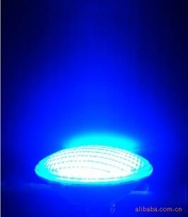 New Par56 LED Swimming Pool Light SMD 558 LEDs Light 40W 12V Glass/ABS IP68 LED PAR56 blue single color