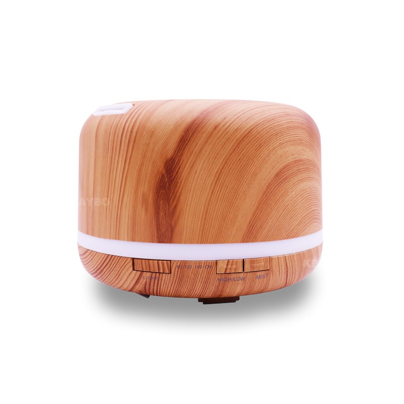 500ml Electric Ultrasonic Aroma Air humidifier Essential Oil Diffuser Wood Grain purifier mist maker LED light for home