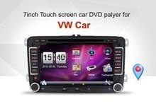 """7 """"2din Coche DVD para VW GOLF 5 Golf 6 POLO PASSAT CC JETTA TIGUAN TOURAN EOS SHARAN SCIROCCO CADDY TRANSPORTER T5 con GPS"""