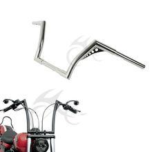 Custom 1-1/4 12 Rise Ape Hangers Handlebar For Harley Softail FLST FXST Sportster XL 1200 883 18 rise 1 1 4 ape hanger handlebar for harley sportster xl 883 1200 flst fxst
