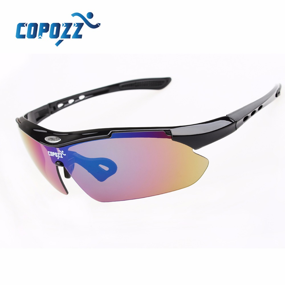 COPOZZ cycling glasses Bicycle sports MTB Bike sunglasses for men Motorcycle Anti UV protection goggles 3 lenses myopia frame Mens Sunglasses