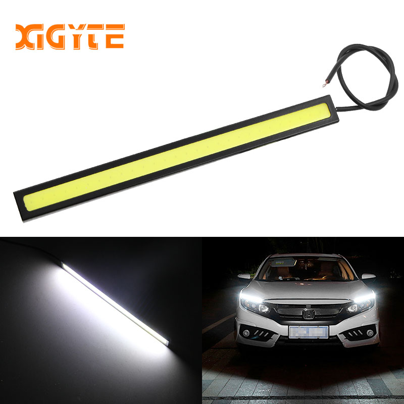 1PCS 17cm 12V COB LED DRL Driving Daytime Running Lights Strip COB LED DRL Bar Stripes Panel Lamps Auto Driving Day time Lights taitian 2pcs cob car bar drl led 12v waterproof flexible strip light for toyota benz ford focus led daytime running lights kit