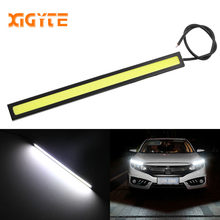 1PCS 17cm 12V COB LED DRL Driving Daytime Running Lights Strip COB LED DRL Bar Stripes Panel Lamps Auto Driving Day time Lights(China)