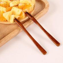 1PC Wooden Bento Accessories Salad Fruits Fork Dessert Natural Wooden Forks Dining Cutlery Dishes Food Picks S2