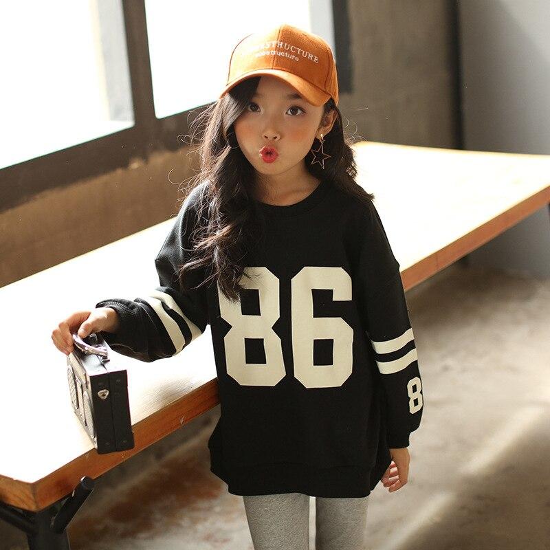 76c70e79c Korean Girls Casual Letter Long Sleeved T shirt 2018 Spring Fall ...