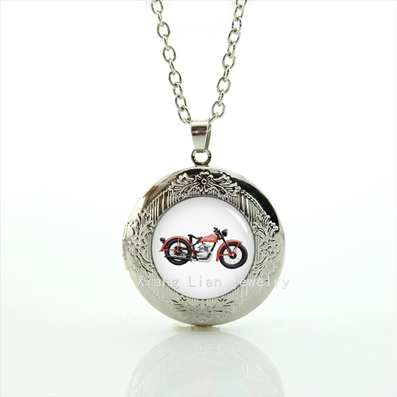 2017 Collier Collares Maxi Necklace New Hot Sale Fashion Dome Locket Necklace Motorcycle Motorbike Wedding Groom Jewelry T661