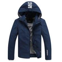 2016 neue Ankunft Marke Herbst Kleidung Männer Casual Reißverschluss Mantel Veste Homme Frühjahr Jacke Mann Mit Kapuze Oberbekleidung Plus Größe PA034