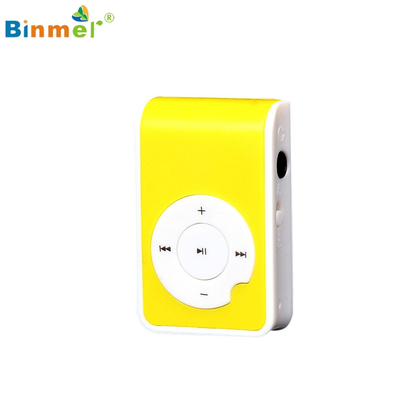Binmer Mini Clip Metal USB MP3 Player Support Micro SD TF Card Music Media Hot Selling Professional Drop Shipping High Quality