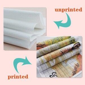 Image 4 - Joy Sunday Kits de punto de cruz chino, Charm Of Spring, algodón ecológico, estampado impreso, 11CT, bricolaje, decoración de boda para el hogar