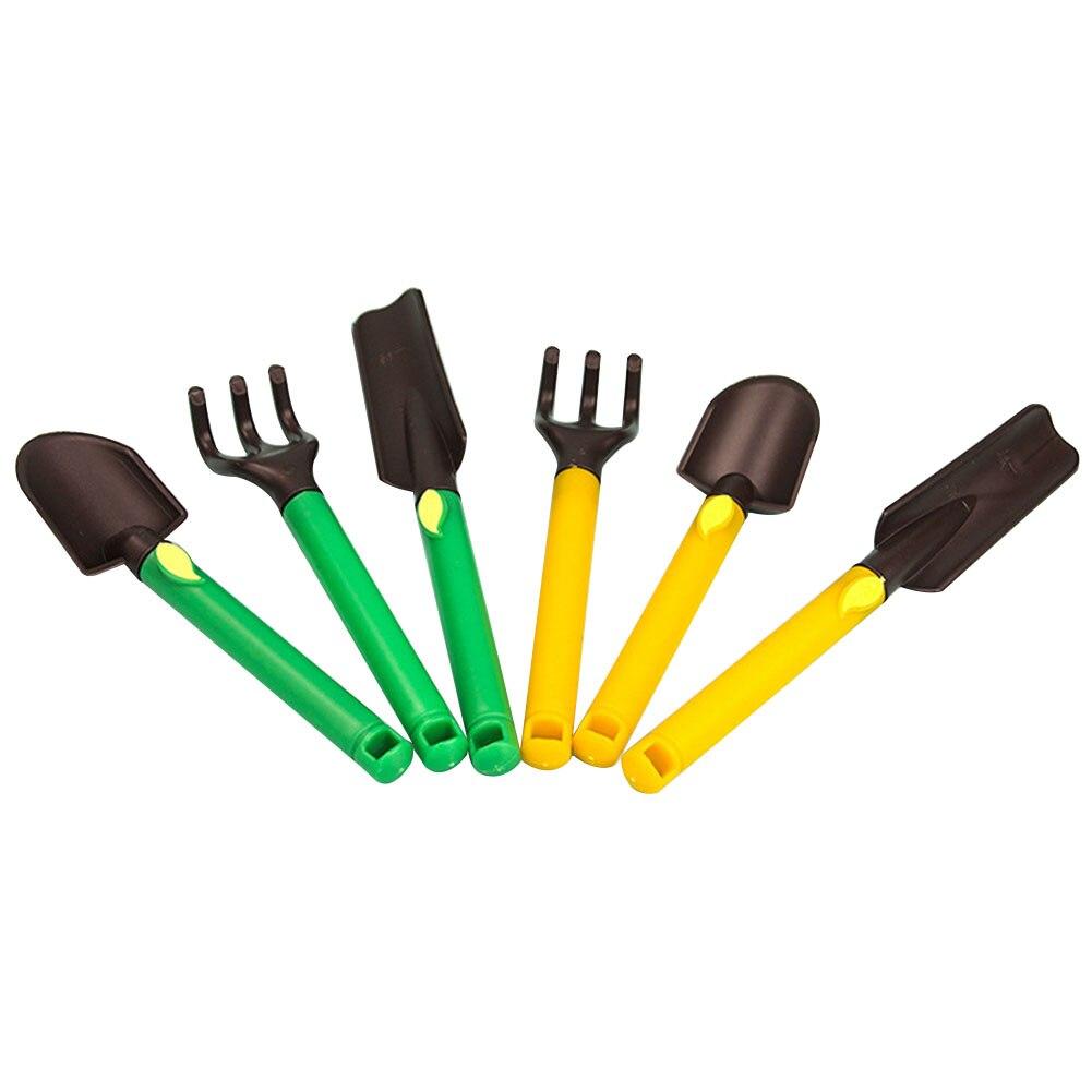 3pcs Kids Gardening Tools Kit Plastic Safe Gardening Tools Trowel Rake Shovel LO88