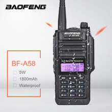 Baofeng BF-A58 Waterproof Walkie Talkie Ham CB Amateur Radio Station Dual Band UHF VHF SDR HF Transceiver Scanner BF A58 PMR 446