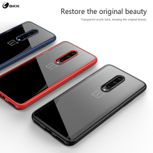 GKK Case for OnePlus 7 Pro Case Anti-knock Transparent Clear Acrylic Back Soft Silicone TPU Edge Cover for OnePlus 7 Pro Coque [hk stock] soft case tpu transparent back cover for oneplus 3