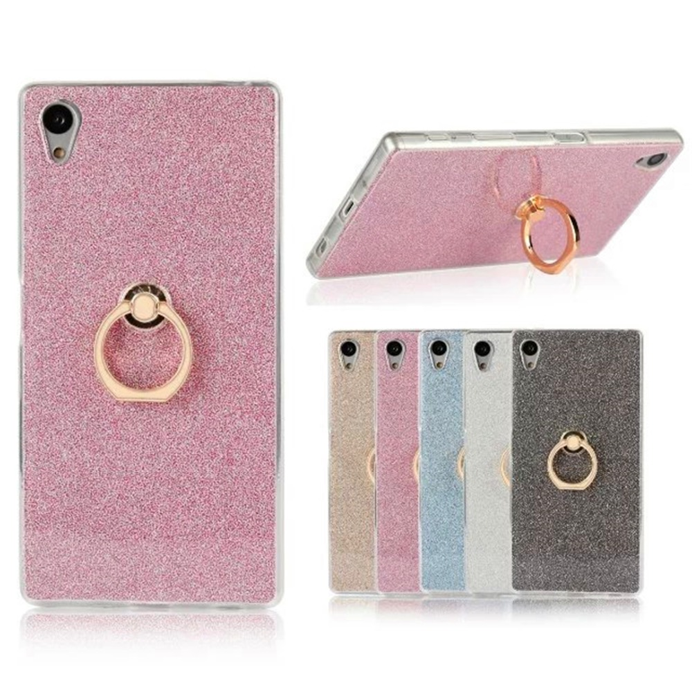 Ultra Thin Soft Soft TPU Gel Kickstand Original Ring Phone Cover pentru Sony Xperia Z5 Z4 Z3 Z2 Z1 C6 C5 C3 Z5 MINI series