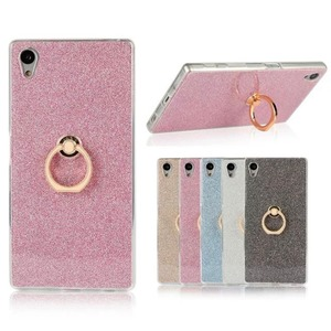 Ultra Thin Soft TPU Gel Original Kickstand Finger Ring Phone Cover for Sony Xperia Z5 Z4 Z3 Z2 Z1 C6 C5 C3 Z5 MINI series