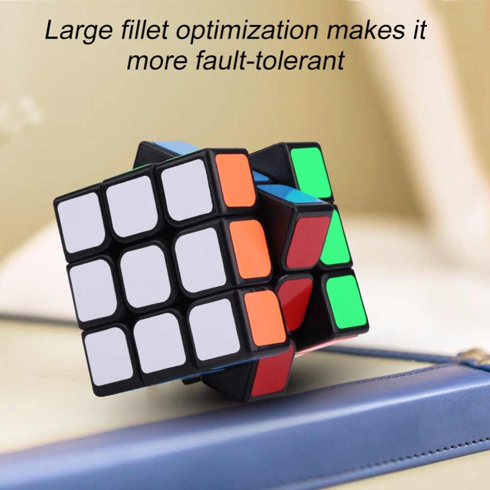 Cube 3x3x3 6 Sides Speed cube magic cubes cubo magico Plastic Educational Puzzle Twist Game Gift toys for children